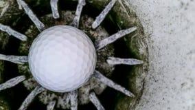 Sfera e foro di golf Immagini Stock