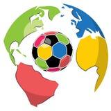 Sfera e globo di calcio Fotografia Stock