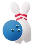 Sfera e perni di bowling Immagine Stock