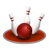 Sfera e perni di bowling Fotografia Stock Libera da Diritti