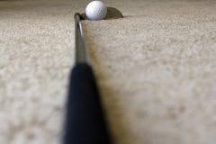 Sfera e randello di golf Immagini Stock Libere da Diritti