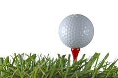 Sfera e T di golf Fotografia Stock