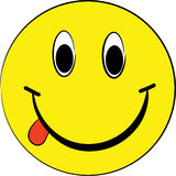 Sfera gialla sorridente Immagine Stock