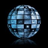 Sfera globale del mondo di tecnologia di mezzi d'informazione Immagini Stock Libere da Diritti