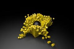 Sfera karambol z sześcian symulacją Obrazy Stock