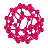 Sfera lucida rosa della struttura molecolare Fotografia Stock