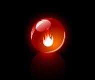 Sfera lucidata (rossa) Fotografie Stock Libere da Diritti
