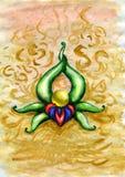 Sfera magica - acquerello Fotografie Stock Libere da Diritti