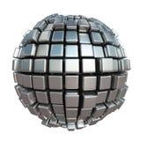 Sfera metallica del cubo Immagine Stock