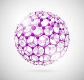 Sfera molecolare royalty illustrazione gratis