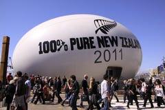 Sfera Nuova Zelanda 2011 della tazza di mondo di rugby Immagine Stock Libera da Diritti