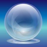 Sfera-Perla di vetro trasparente Fotografia Stock