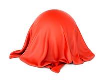 Sfera przedmiot zakrywający z czerwonym płótnem Fotografia Stock