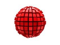 Sfera rossa del metallo 3d Immagine Stock