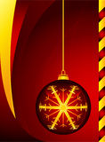 Sfera rossa di Christmass fotografie stock