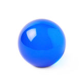 Sfera trasparente della palla di vetro isolata Fotografia Stock Libera da Diritti