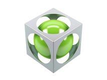 Sfera verde Immagine Stock