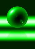 Sfera verde astratta Immagini Stock Libere da Diritti
