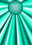 Sfera verde della discoteca illustrazione vettoriale