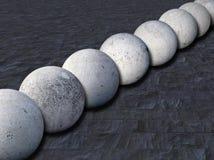 sfere 1 concrete Immagini Stock Libere da Diritti