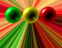 Sfere astratte di colore Fotografia Stock