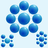 Sfere blu Immagine Stock