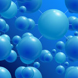 Sfere blu Immagini Stock