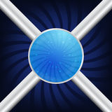 Sfere blu Fotografie Stock
