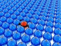 Sfere blu di natale Immagini Stock