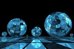 Sfere blu futuristiche Fotografia Stock Libera da Diritti