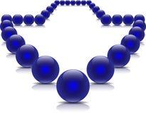 Sfere blu nel modulo della freccia Immagine Stock