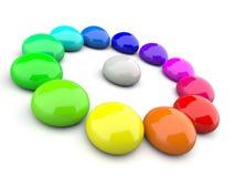 Sfere brillanti nei colori dell'arcobaleno Immagine Stock