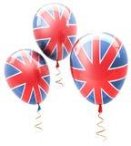 Sfere con i simboli del Regno Unito. Fotografia Stock