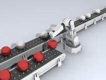 Sfere con il robot Illustrazione di Stock