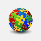 Sfere de puzzle Photographie stock libre de droits
