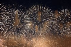 Sfere dei fuochi d'artificio Fotografie Stock