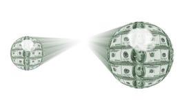 Sfere dei soldi Immagini Stock