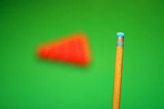 Sfere del bastone e dello snooker di indicazione Fotografia Stock Libera da Diritti