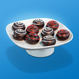Sfere del cioccolato Immagine Stock