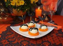 Sfere del formaggio per Halloween Fotografia Stock Libera da Diritti