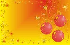 Sfere del nuovo anno Fotografia Stock