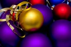 Sfere del nuovo anno fotografia stock libera da diritti