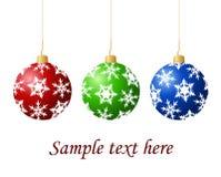 Sfere dell'albero di Natale Fotografie Stock Libere da Diritti