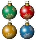 Sfere dell'albero di Natale illustrazione vettoriale