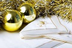 Sfere dell'ornamento della decorazione di nuovo anno di natale immagini stock