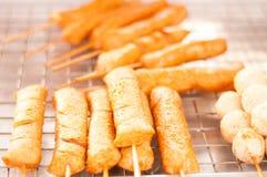 Sfere della carne di pesci Immagini Stock