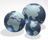 Sfere della terra Immagine Stock Libera da Diritti