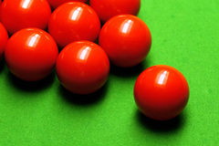 Sfere dello snooker fotografie stock