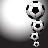 Sfere di calcio Fotografie Stock