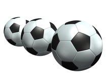 Sfere di calcio Immagine Stock